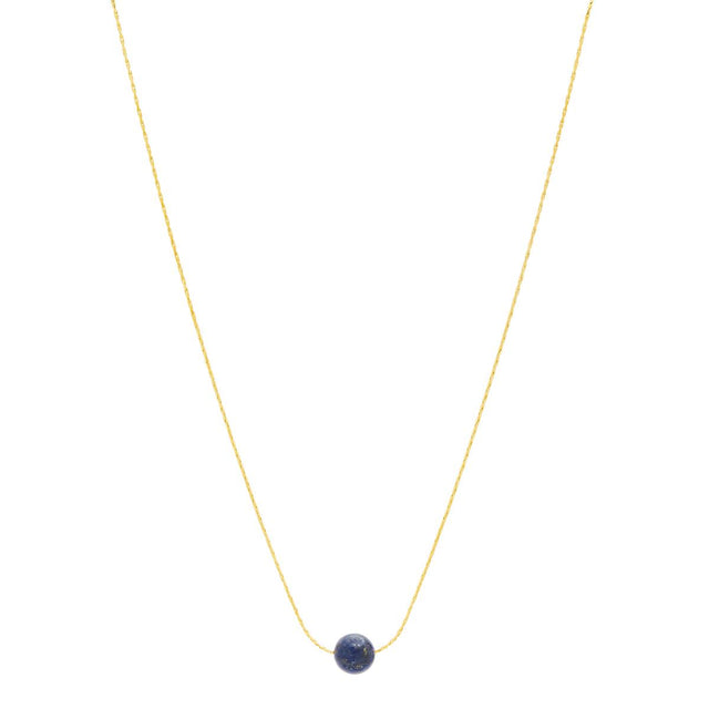 Scout Bead Short Necklace Navy