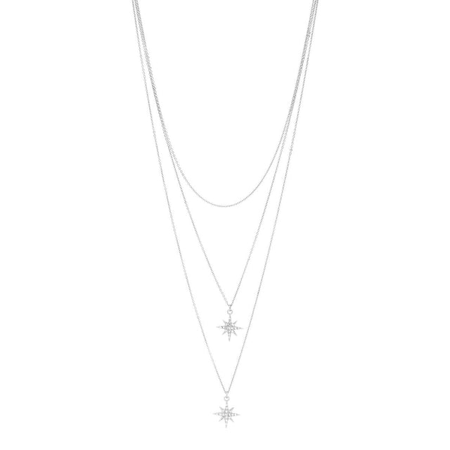 Everly Star Midi Necklace Silver