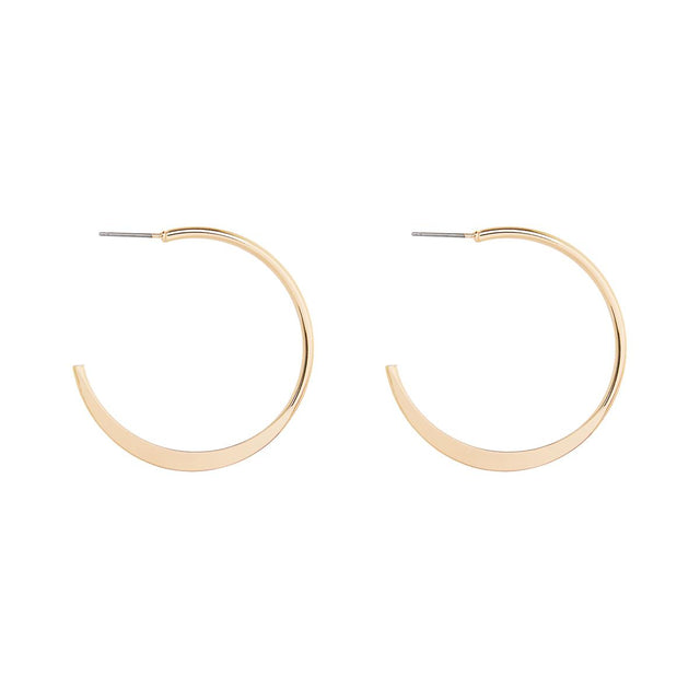 Skylar Pressed Hoop Gold