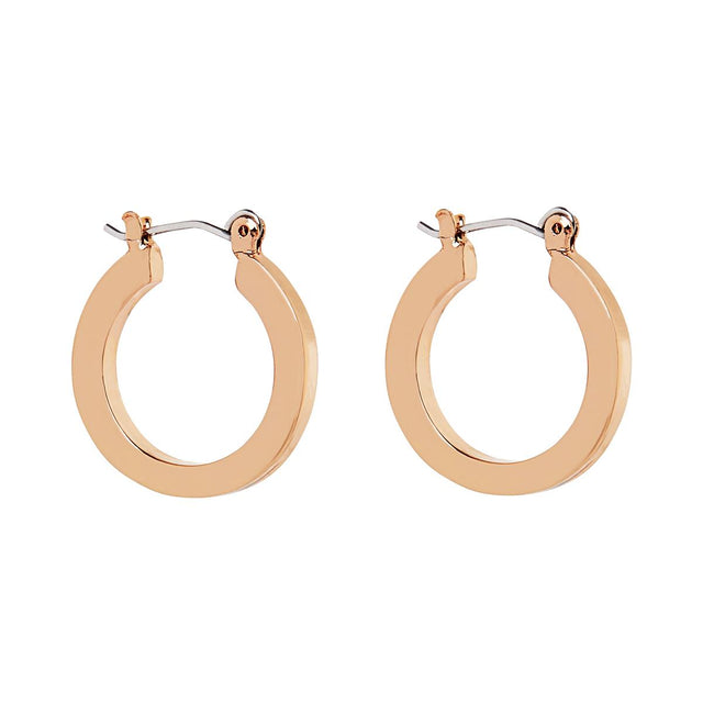 Laura Flat Edge Hoop Rose Gold