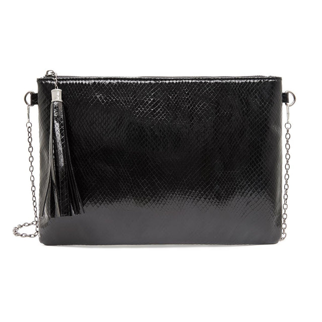 Tara Slim Purse Shiny Black