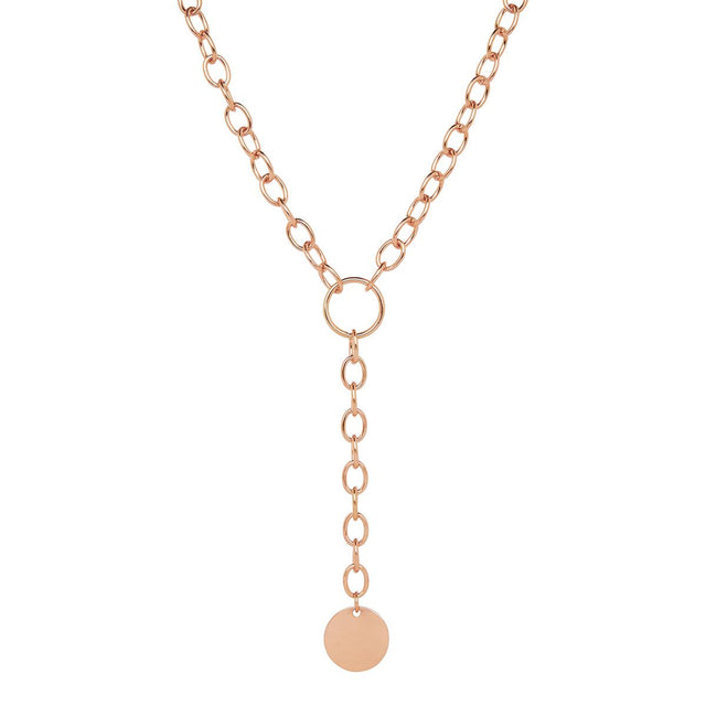 Johanna Chain Long Necklace Rose Gold
