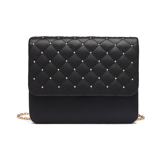 Annabelle Quilted Cross Body Black