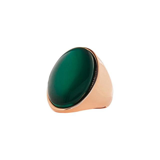 Caroline Stone Statement Ring Emerald