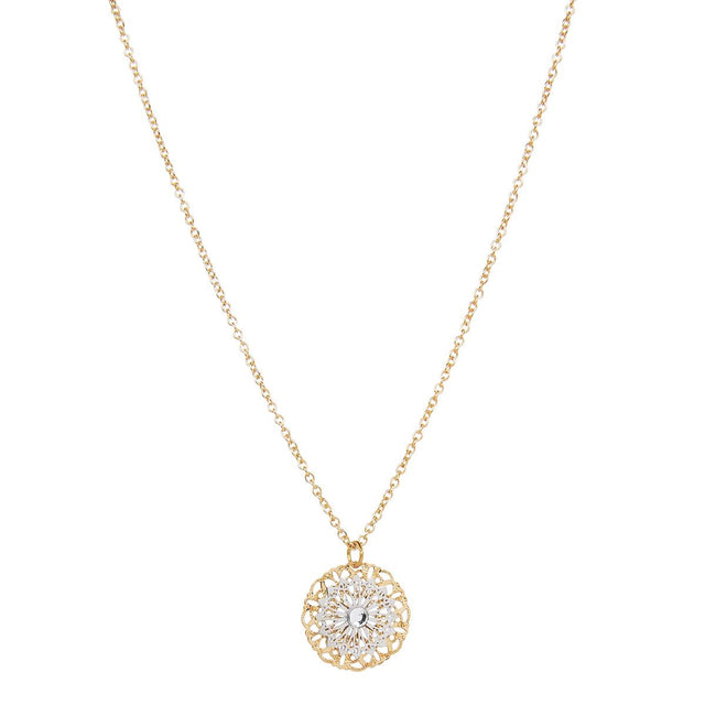 Ariah Pendant Midi Necklace Crystal