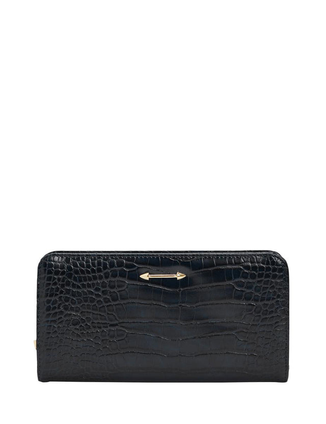 Lou Zip Wallet Black