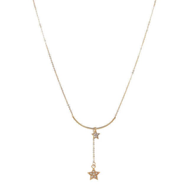 Rochelle Star Short Necklace Gold