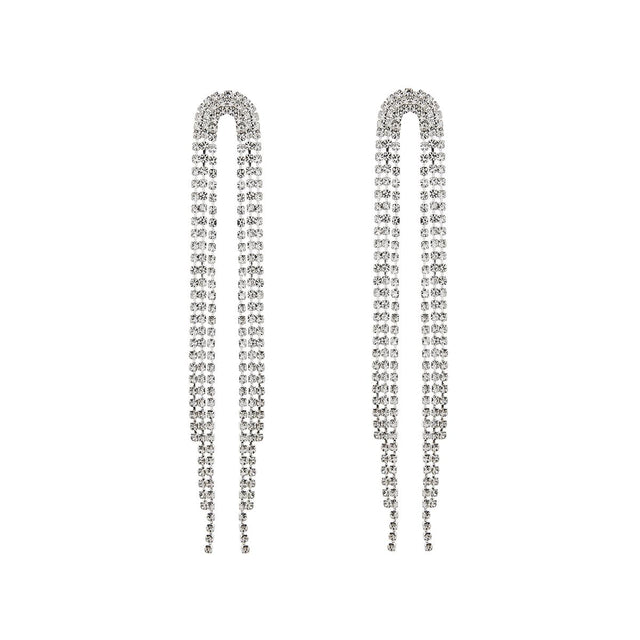 Brooke Drop Earring Crystal Silver