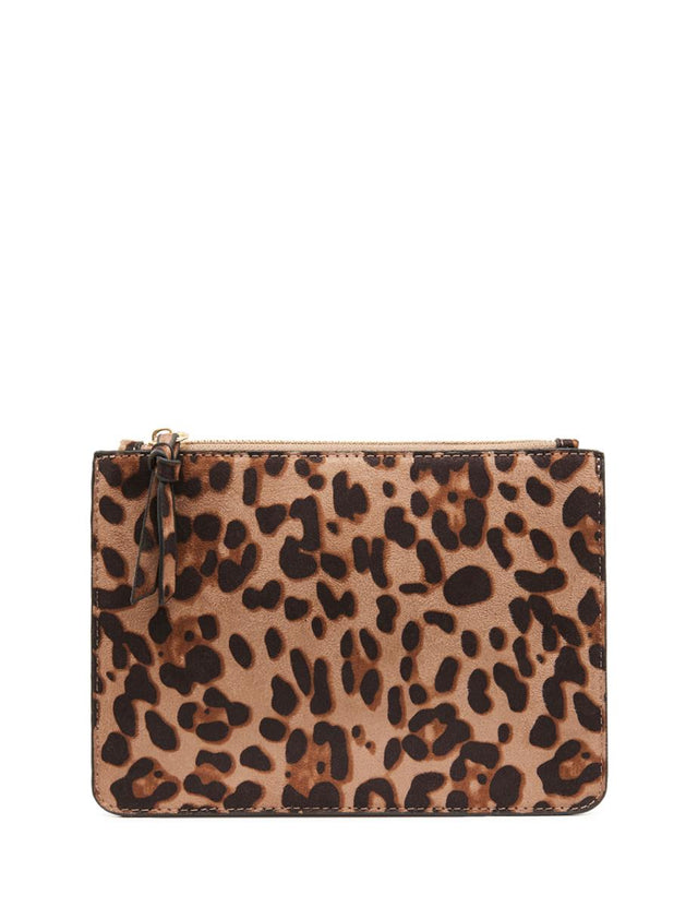 Nica Small Slim Purse Leopard