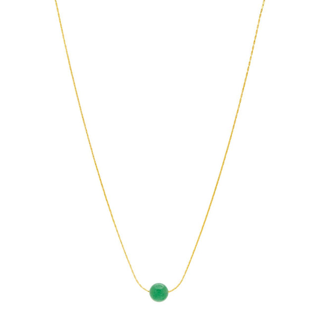 Scout Bead Short Necklace Emerald