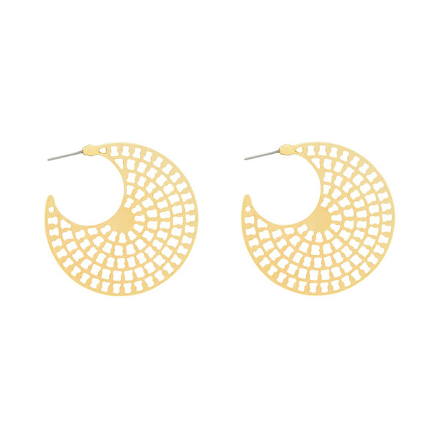 Alexia Graphic Hoop Gold