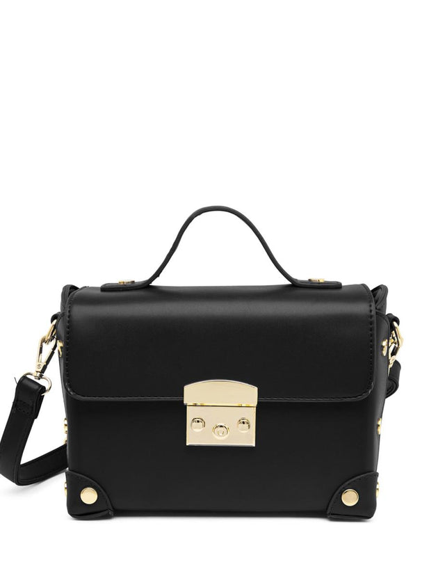 Piper Satchel Handbag Black