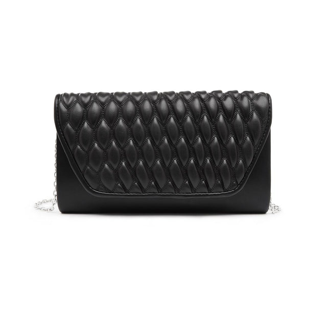 Faith Foldover Clutch Black