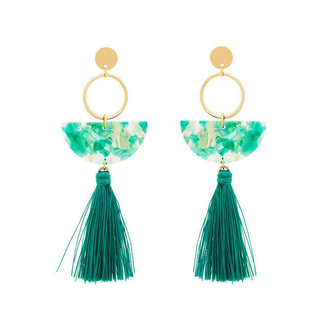 November Tassel Drop Emerald