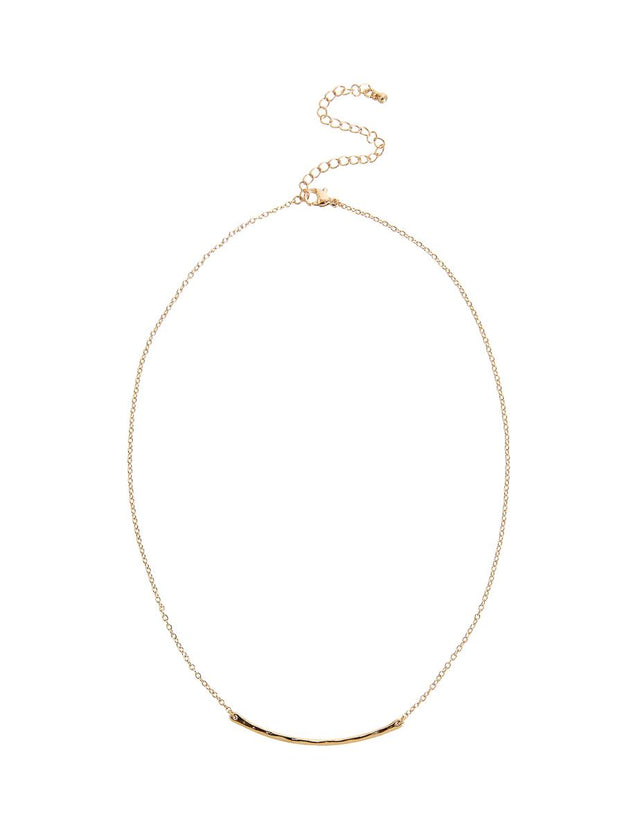 Florance Bar Midi Necklace Gold