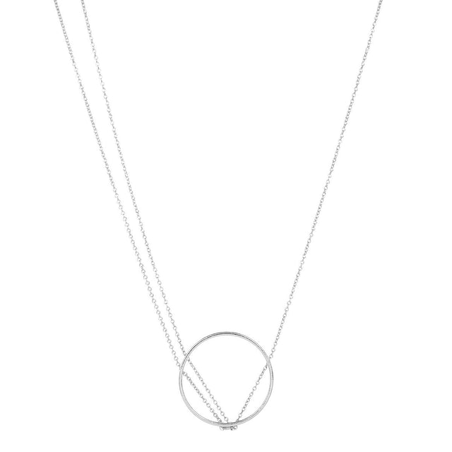 Lena Circle Short Necklace Silver