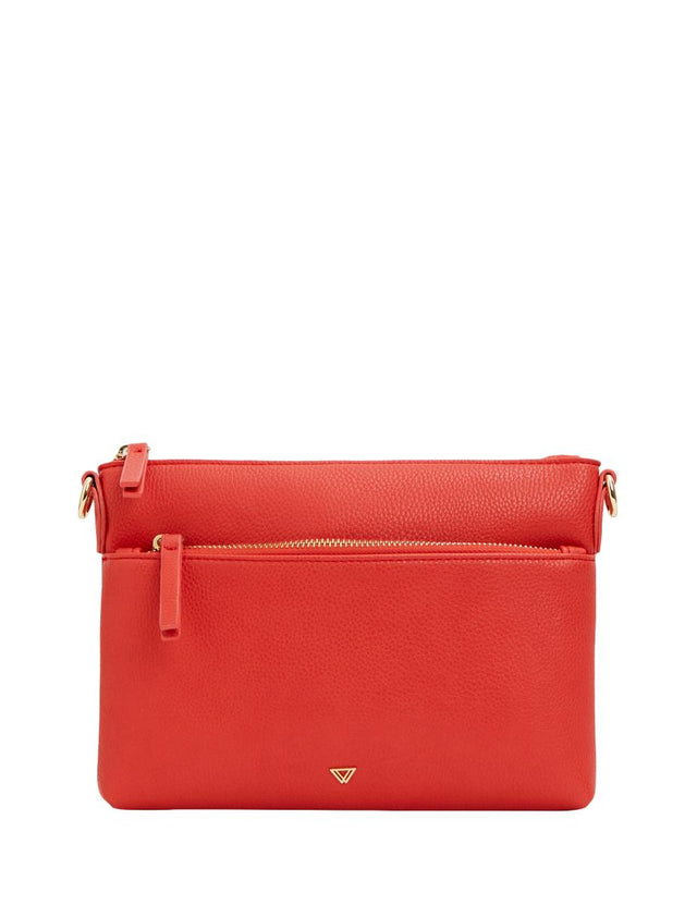 Evelynn Small Cross Body Red