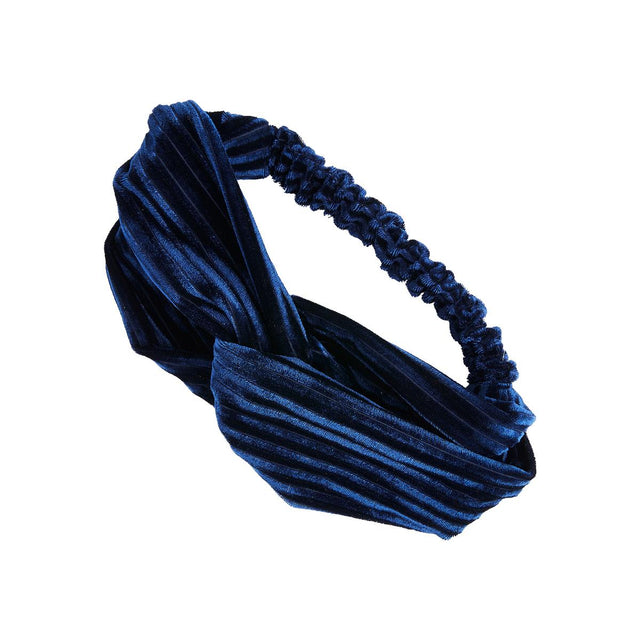 Evelynn Velour Headband Blue