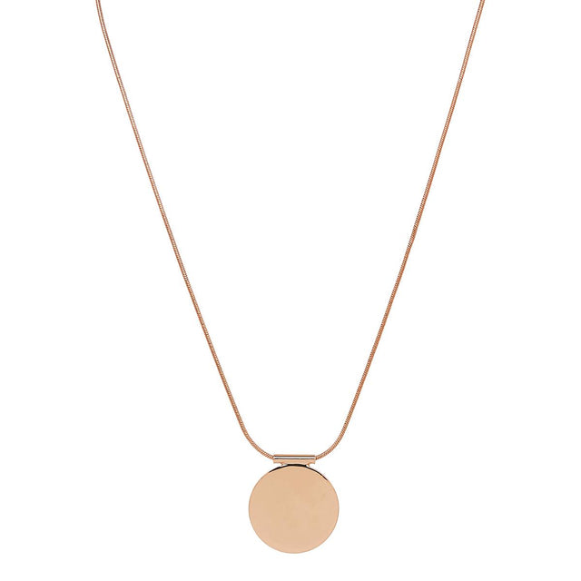 Brianna Disc Short Necklace Rose Gold