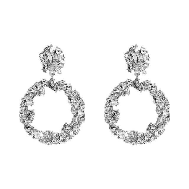 Sonia Drop Earring Crystal Silver