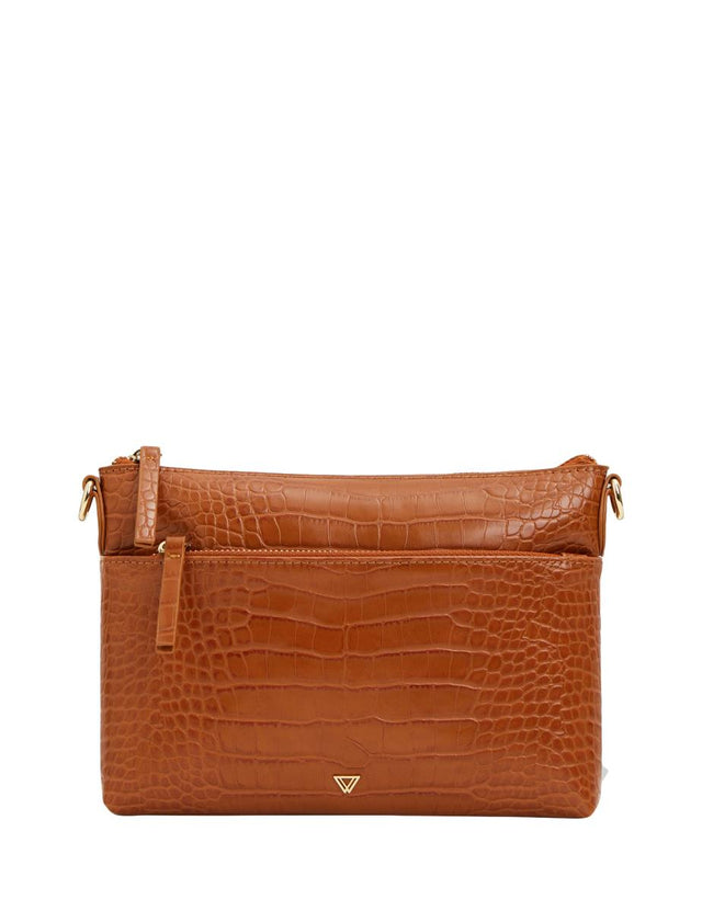 Evelynn Small Cross Body Brown