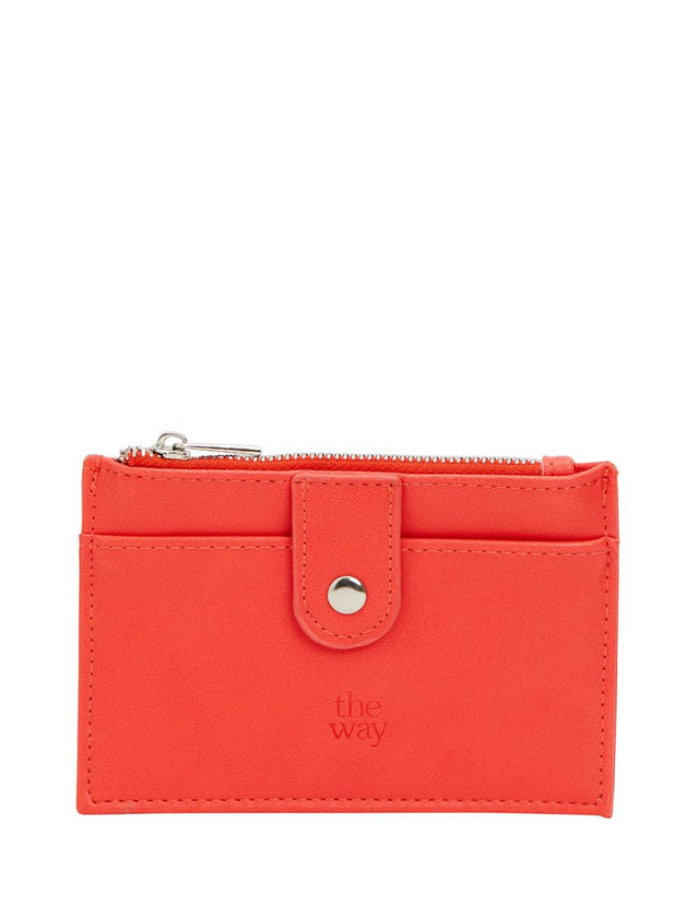Tilly Zip Card Wallet Red