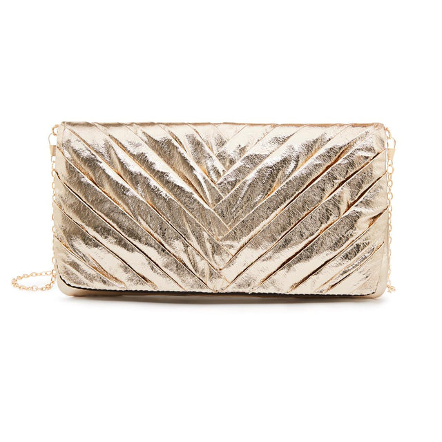 Jasmine Soft Clutch Gold