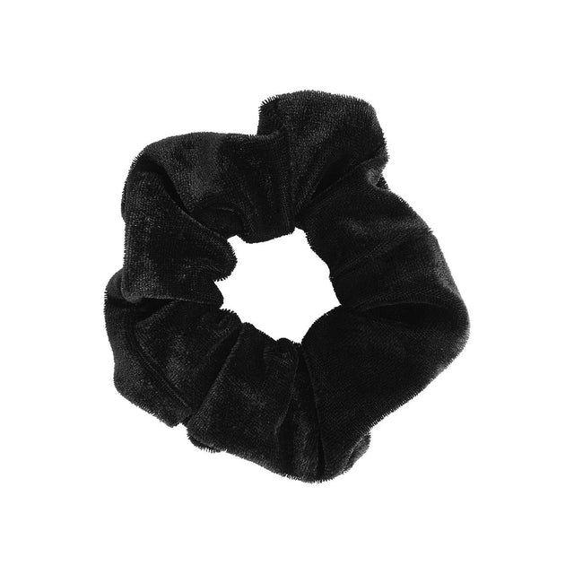 Maria Velour Scrunchie Black