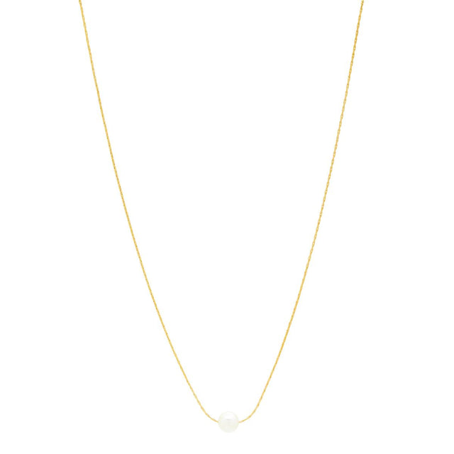 Tallulah Bead Midi Necklace White