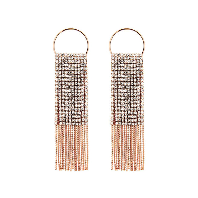 Amelia Drop Earring Crystal Rose Gold