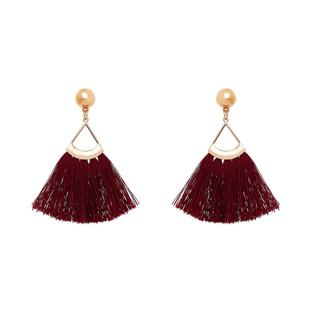 Zoe Tassel Drop Berry