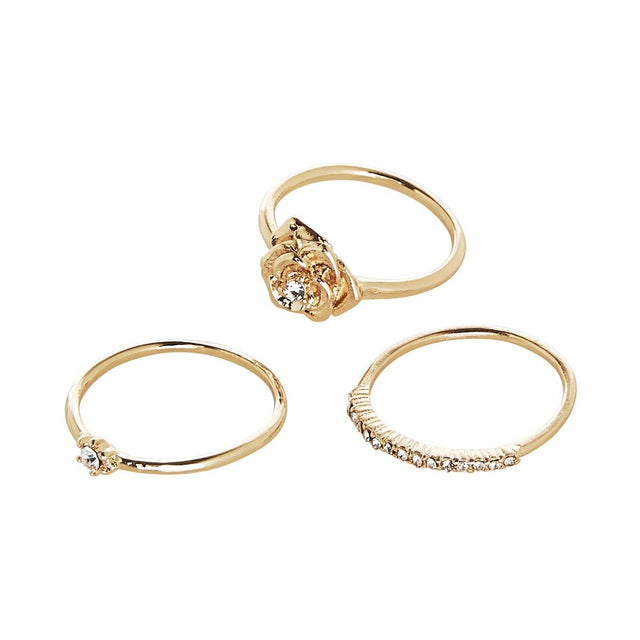 Adley Assorted Stackable Ring Gold