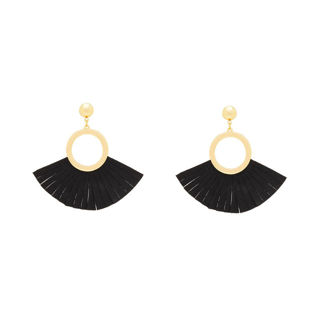 Sarah Tassel Drop Black