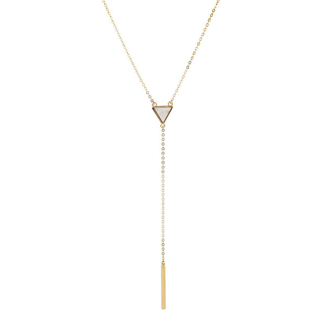 Miriam Triangle Choker Gold