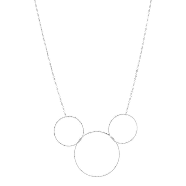 Demi Hoop Midi Necklace Silver