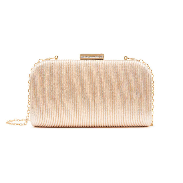 Lulu Hardcase Clutch Metallic Gold