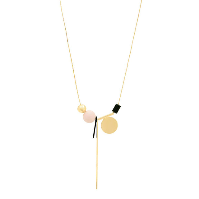 Jane Abstract Long Necklace Multi