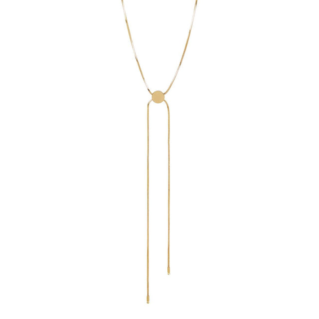 Marie Drop Long Necklace Gold