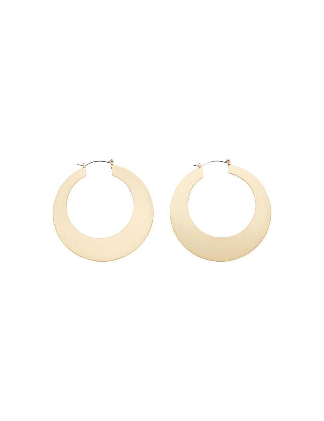 January Flat Edge Hoop Gold