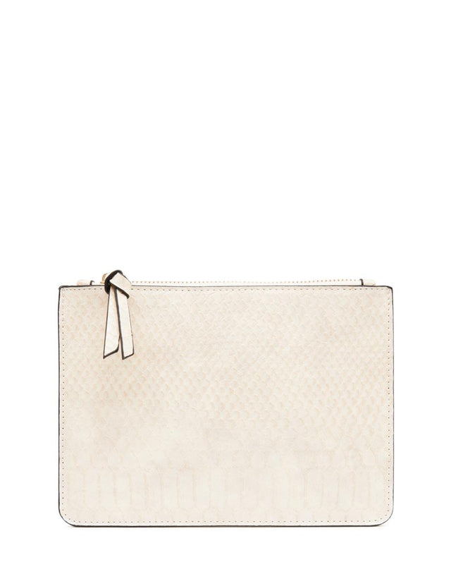 Nica Small Slim Purse Beige