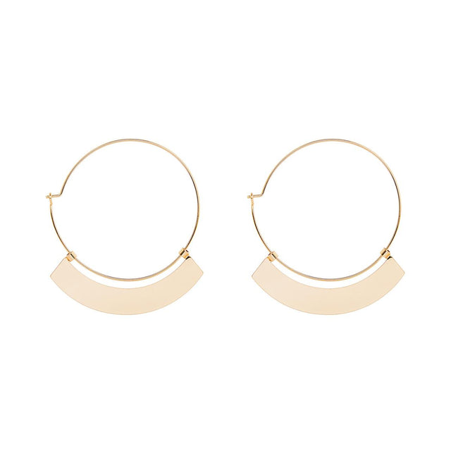 Angie Bar Hoop Gold