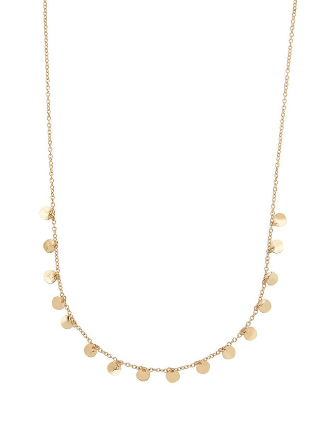 Piza Disc Midi Necklace Gold