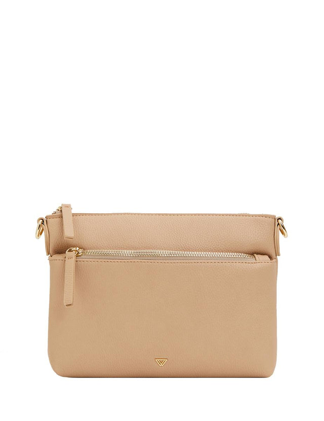 Evelynn Small Cross Body Camel