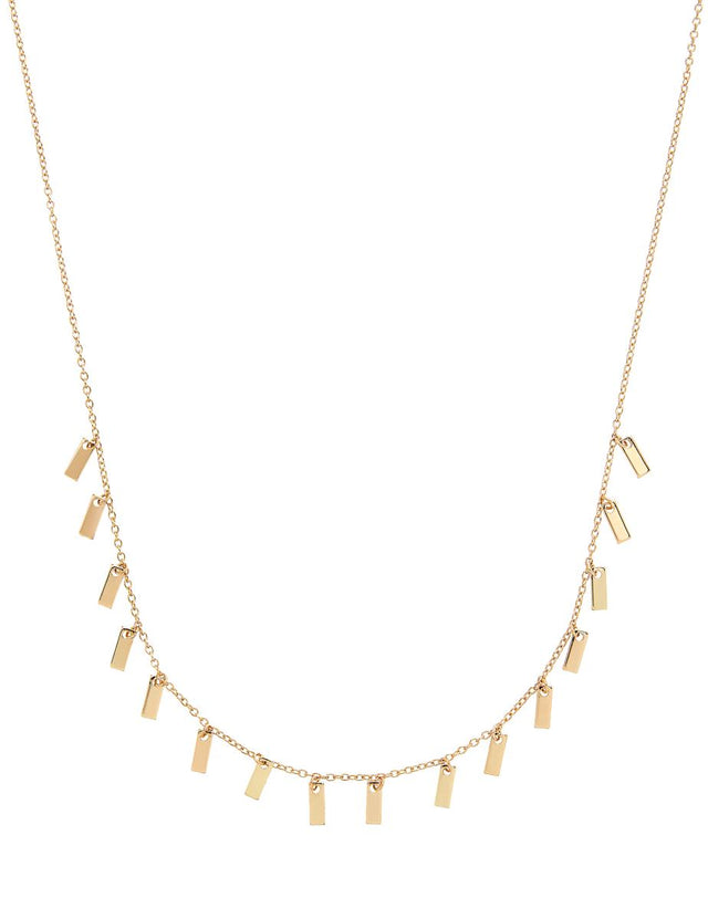 Rome Bar Midi Necklace Gold
