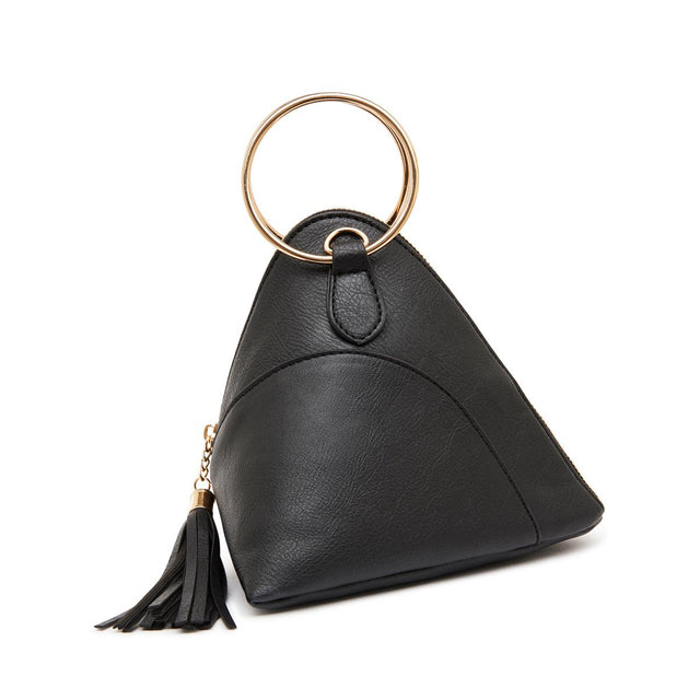 Sammy Pyramid Clutch Black