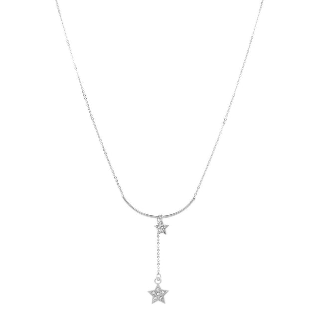 Rochelle Star Short Necklace Silver
