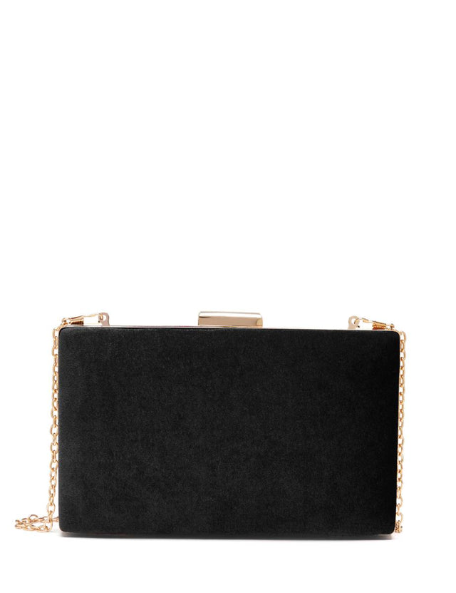 Isabel Hardcase Clutch Black