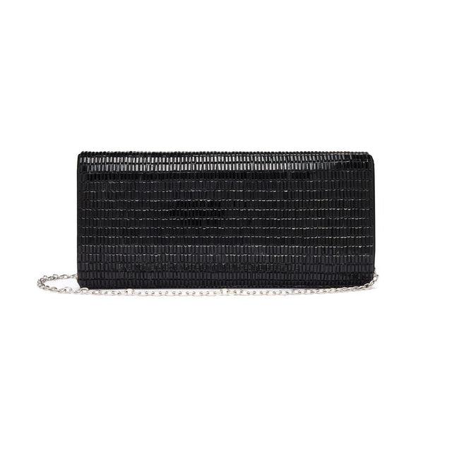 Lila Evening Clutch Black