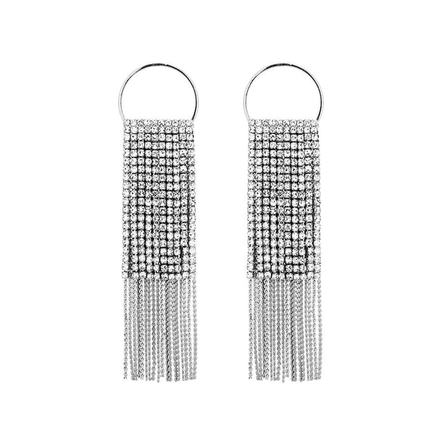 Amelia Drop Earring Crystal Rhodium