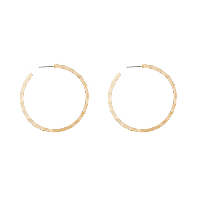 Juliet Hammered Hoop Gold